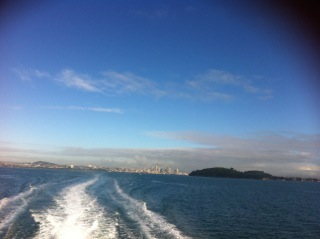 On the way to Rangitoto Island